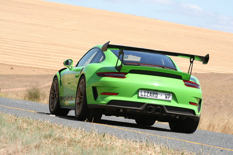 The most purist of Porsche's road cars, the GT3 RS is an intense driving experience. Picture: DENIS DROPPA