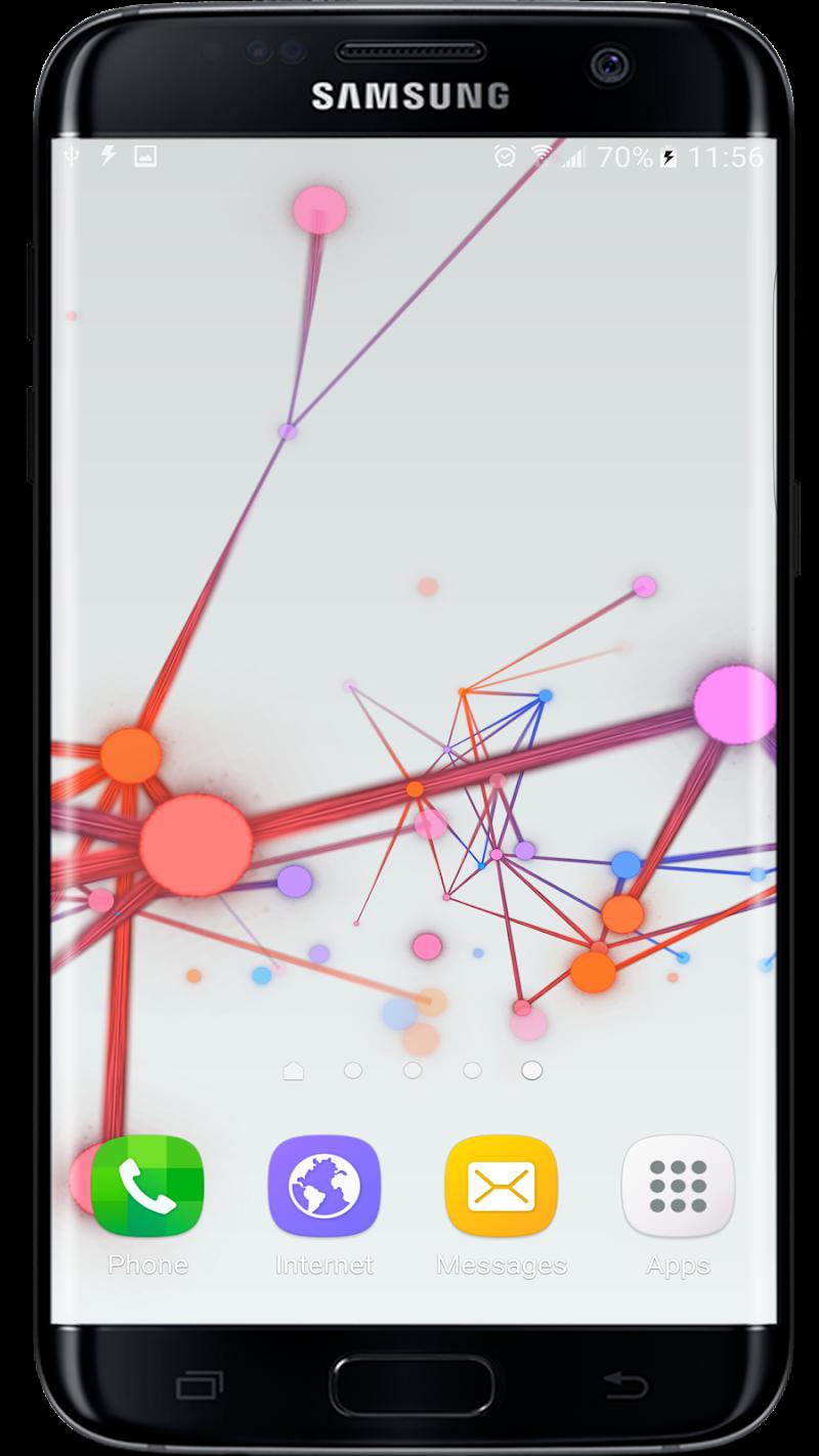 Abstract Particles Wallpaper Screenshot 1
