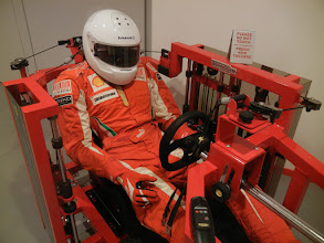 Photo: This was kind of cool - it's a little gym they use to train the drivers who race for Ferrari.