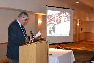Photo: President Don Weekes introducing Guest Speaker - Michel-Andre Lamarche