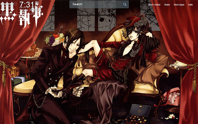 Black Butler Wallpapers Theme New Tab