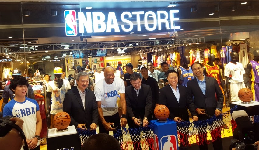 CEREMONIAL RIBBON CUTTING AT THE SECOND NBA STORE IN MANILA