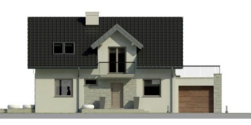 Dom przy Alabastrowej 4 - Elewacja przednia
