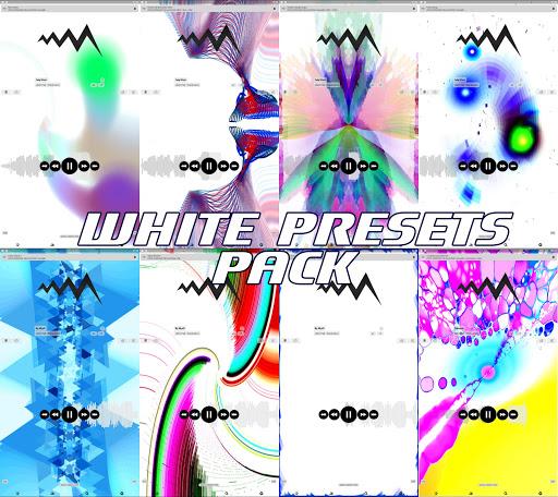 Screenshot for WHITE POWERAMP VISUALIZATION in United States Play Store