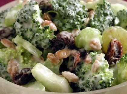 Broccoli, Bacon, Raisin Salad Recipe