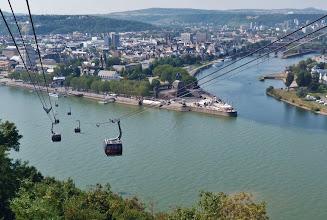 Photo: Seit der BUGA 2011 führt eine Seilbahn zur Festung Ehrenbreitstein.