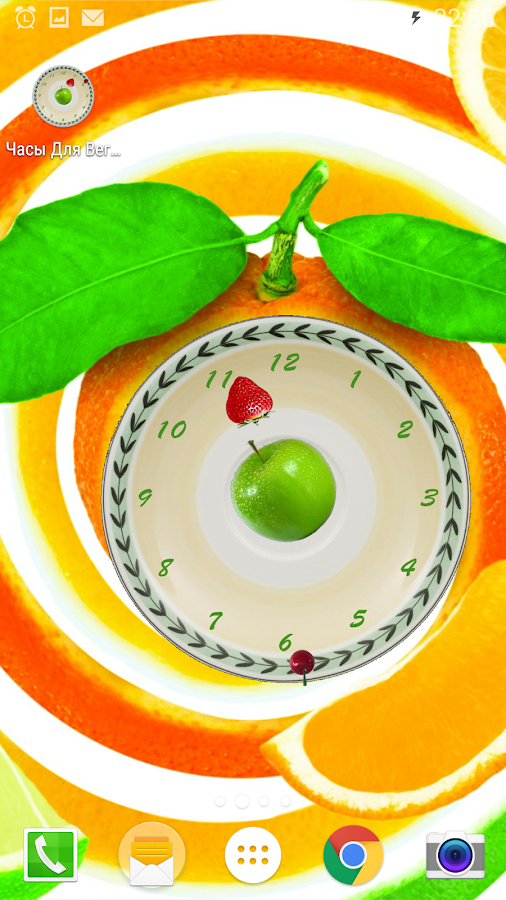 Clocks Living Fruits Wallpaper- screenshot