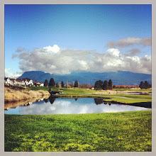 Photo: Pitt Meadows community across the golf course #intercer #mapleridge #pittmeadows #trees #britishcolumbia #canada #lake #clouds #green #grass #spring #house #mountain #beautiful #pretty #life #city #rural #quiet #blue - via Instagram, http://instagram.com/p/Zb6Z0-pfm1/