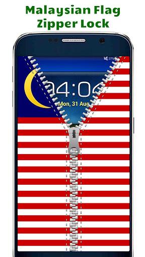 Malaysian Flag Zipper Lock