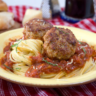 Meatballs with Wild Mushroom Marinara