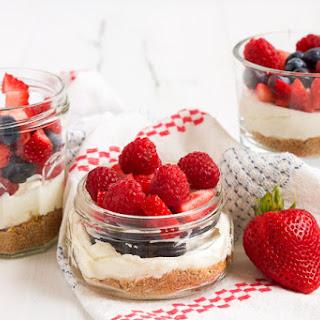 No-Bake Berry Cheesecakes.