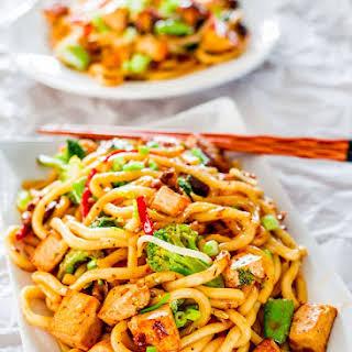 Tofu Drunken Noodles.