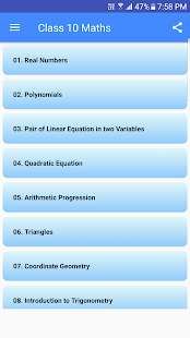 Class 10 Maths NCERT Solutions and Exam tips - náhled