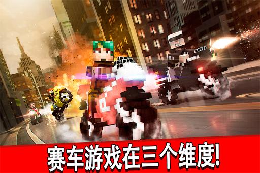 拍摄摩托车赛 像素游戏 赛跑 喜欢 我的世界 版