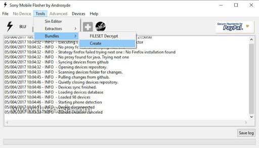 Mulai Membuat File ftf Dari Firmware Yang Sudah di Download via XperiFirm