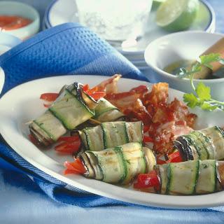 Gegrillte Gemüseröllchen