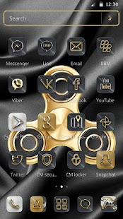 Golden Luxury Fidget Spinner theme - náhled