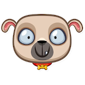Pugsly the Dog - Animal stickers pack for WhatsApp