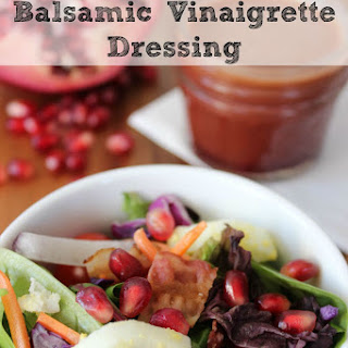 Easy Pomegranate Balsamic Vinaigrette Salad Dressing