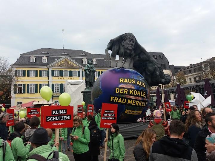 Demo in Bonn.