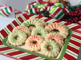 Peppermint Spritz Cookies Recipe