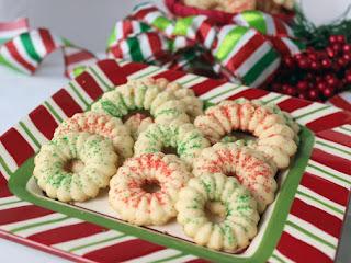 Peppermint Spritz Cookies Recipe