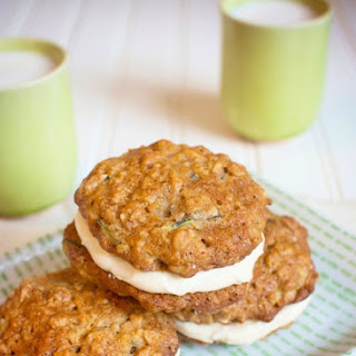 Zucchini Sandwich Cookies with Cream Cheese Frosting.