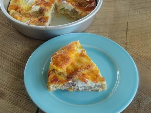 Conglomerate of Tailgate Appetizers Quiche