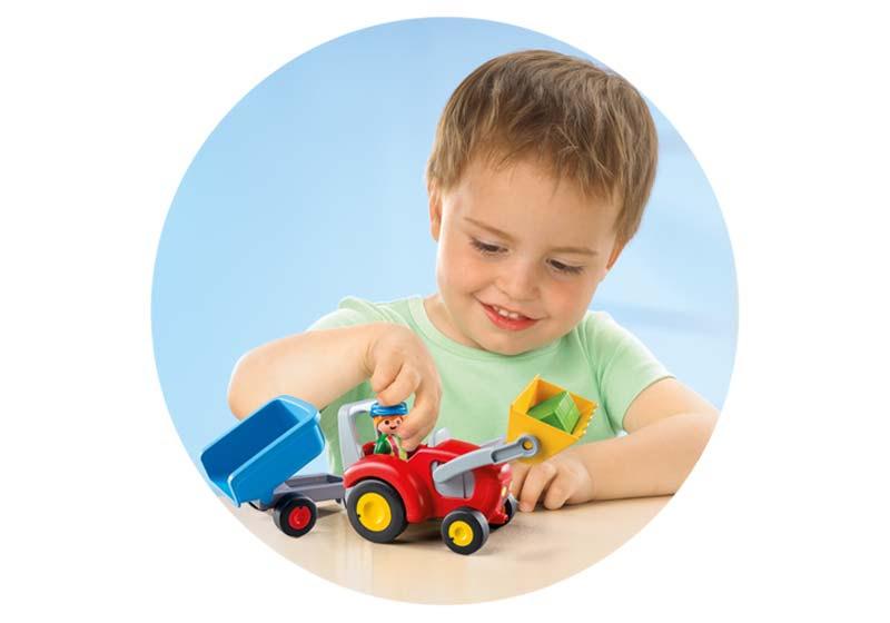 Contenido real de Playmobil® 6964 Tractor con Remolque