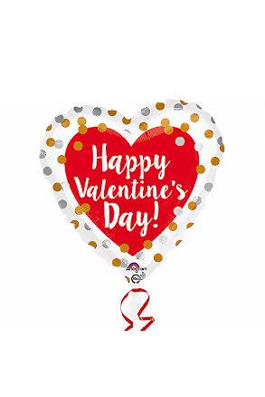 Folieballong, happy valentines day