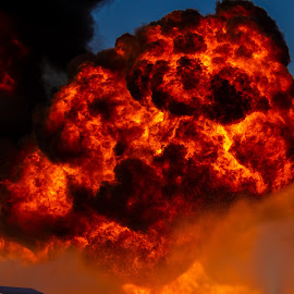 Gasoline Explosion 2 by Colin Toone - Abstract Fire & Fireworks ( cloud, firefighter, smoke, fire, plume )