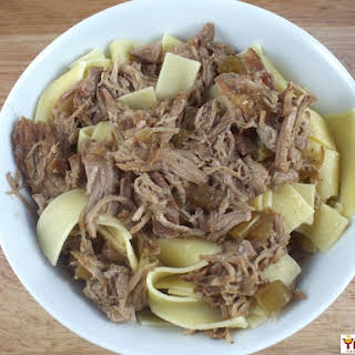 Slow Cooker Pork & Noodles.