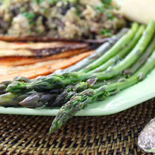 Steamed Asparagus with Truffles