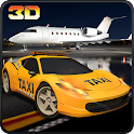 City Modern Airport Taxi Rush icon