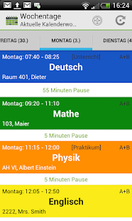 School Schedule Deluxe Retro- screenshot thumbnail