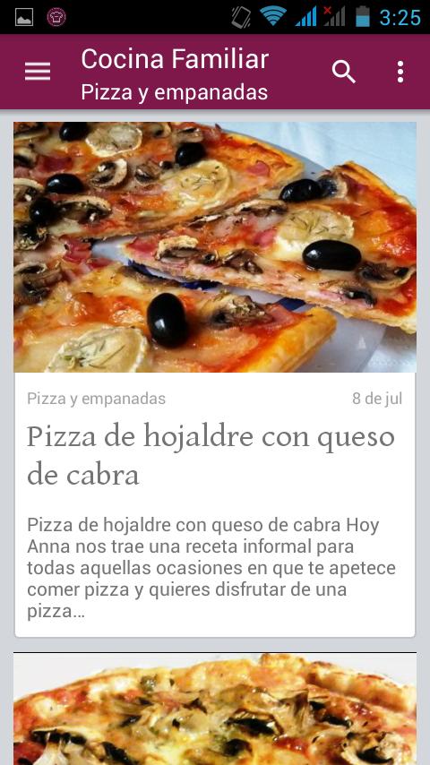 Cocina familiar recetas android apps on google play for Cocina familiar