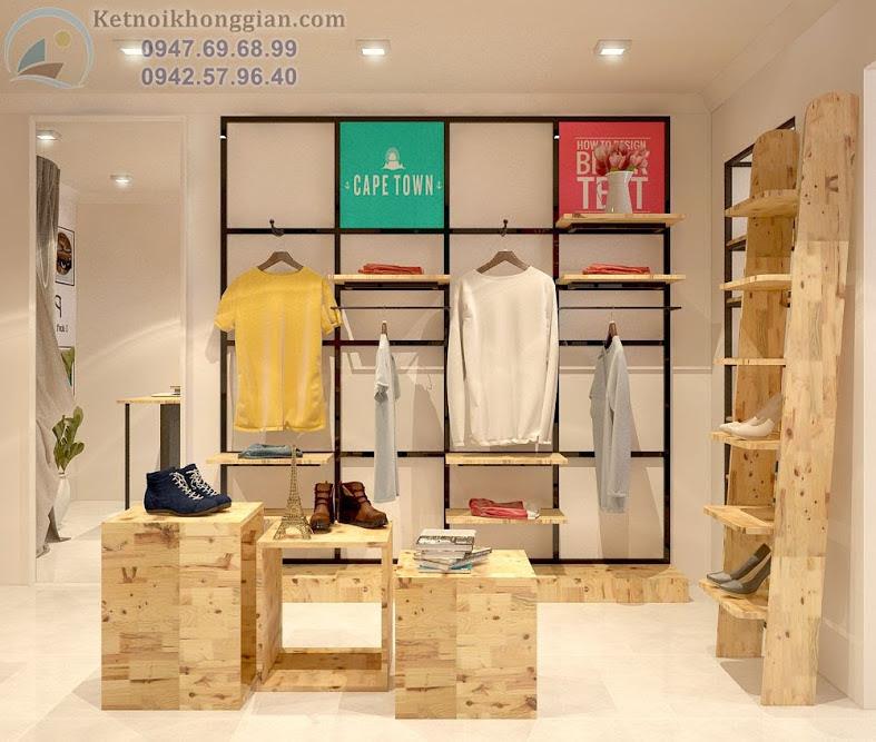 thiết kế cửa hàng thời trang trẻ trung