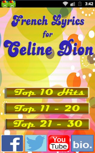 French Songs for CELINE DION