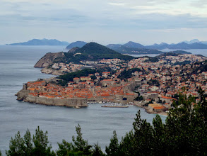 Photo: On our way back to Dubrovnik the next morning we took this picture.  2,000 people still live inside the old town.