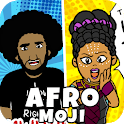AfroMoji: African Afro Emoji Stickers Black icon