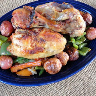 Grilled Guinness Stout Chicken with Potatoes & Vegetables