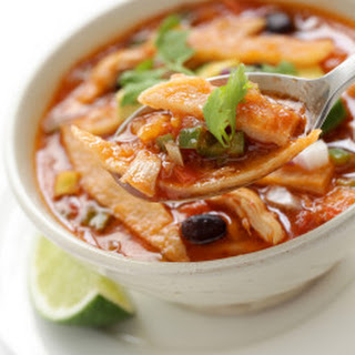 Spicy Chicken Tortilla Soup.