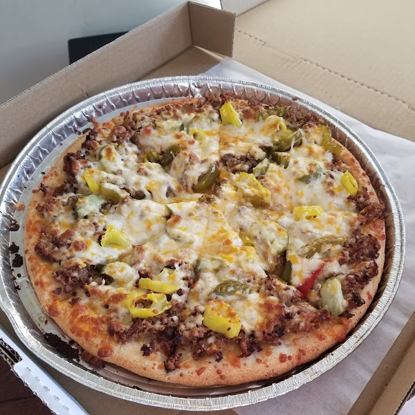Cheesesteak pizza!