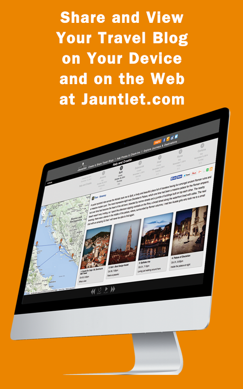 Jauntlet Travel Blog & Journal- screenshot