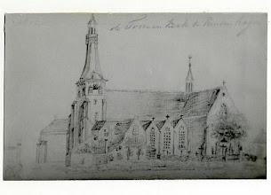 Photo: 1837 Potloodtekening  St. Martinuskerk
