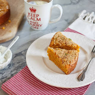 Gingered Oatmeal Cake With Carrots.