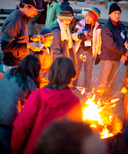 Photo: Roasting marshmellows over the fire in Moab Utah at the Gold Bar campground.