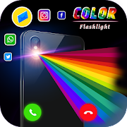 Color Flashlight alerts on Call SMS, Color Screen