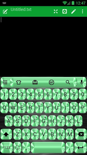 Metallic Green Emoji Keyboard
