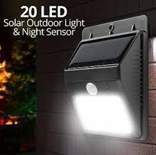 Set 3 x Lampa solara de perete cu senzor miscare 20 LED